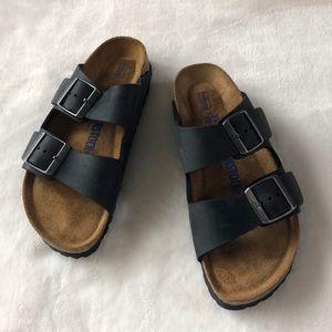Birkenstock Arizona oiled leather sandals narrow